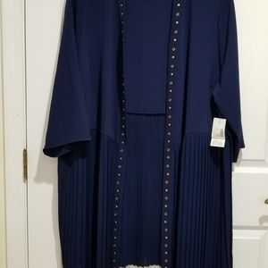 Navy Blue Jacket with matching Top